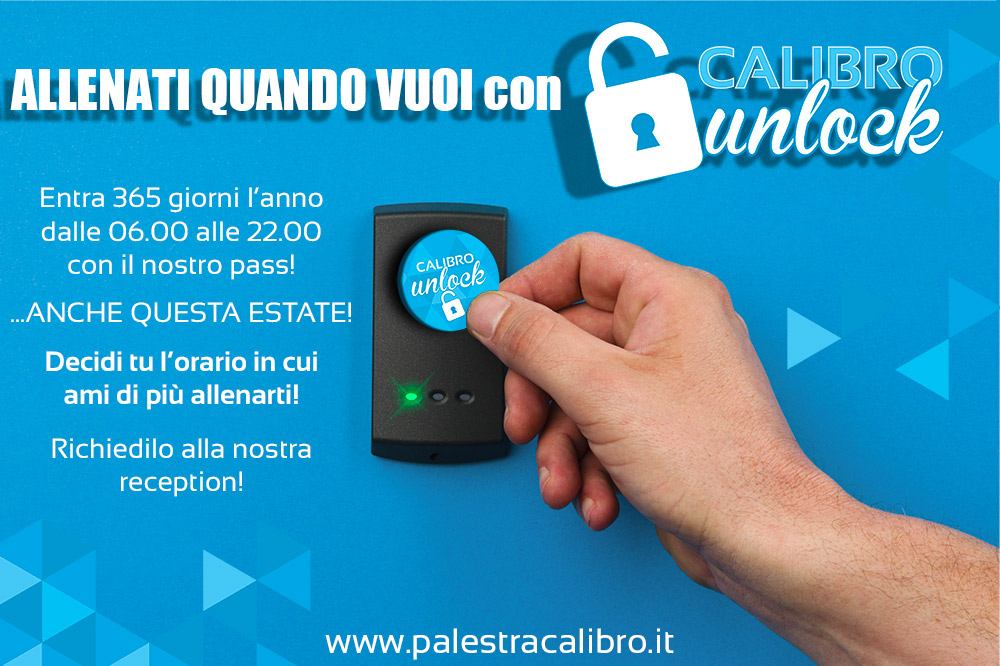 La tua estate allenata con CALIBRO UNLOCK